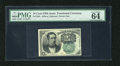 Fractional Currency:Fifth Issue, Fr. 1264 10c Fifth Issue PMG Choice Uncirculated 64 EPQ. Anexceptional example of this very broadly margined green back Mer...