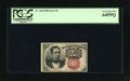 Fractional Currency:Fifth Issue, Fr. 1266 10c Fifth Issue PCGS Very Choice New 64PPQ. Thethird-party grading service liked the paper quality of thisnote....