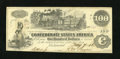 Confederate Notes:1862 Issues, T39 $100 1862. This Choice About Uncirculated $100 is a PF-2....