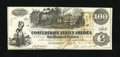 Confederate Notes:1862 Issues, T39 $100 1862. This About Uncirculated Straight Steam example is aPF-10, and unlisted in Criswell. Three Augusta Intere...