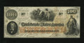 Confederate Notes:1862 Issues, T41 $100 1862. The frame line is clearly seen all the way around onthis PF-6 Cr. 319 Scroll 1 Plate 1 variety. Choice Cri...