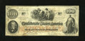 Confederate Notes:1862 Issues, T41 $100 1862. This C-note is of the PF-12 Cr. 317a/327a Plate 4Scroll 1 variety. There is a penned issuance statement on t...