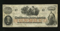 Confederate Notes:1862 Issues, T41 $100 1862. Even wear and nice edges for the grade are found onthis PF-12 Cr. 317a/327a Plate 4 Scroll 1 note. Fine....
