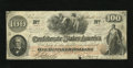 Confederate Notes:1862 Issues, T41 $100 1862. This Fine PF-25 Cr. 318a Plate 6 note is of theScroll 2 persuasion. It also has the rubber stamping of C...
