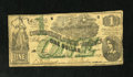 Confederate Notes:1862 Issues, T45 $1 1862. Lucy has a couple of tears on her Green overprintedVery Good note. PF-2, Cr. 342...