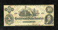 Confederate Notes:1862 Issues, T46 $10 1862. Pencil notations on the back mention the Criswellnumber of 343, along with a price of $15.00. This Fine ...