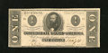 Confederate Notes:1862 Issues, T55 $1 1862. This is an example of a Fricke 7 Criswell 398. ChoiceAbout Uncirculated, with corner handling....