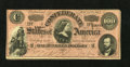 """Confederate Notes:1864 Issues, T65 $100 1864. This VF-XF Dark Red $100 is listed as a PF-1, Cr. 490.. From The William A. """"Bill"""" Bond Collection..."""