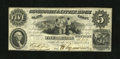 Obsoletes By State:Arkansas, Little Rock, AR- Cincinnati & Little Rock Slate Compy $5 December 1, 1854 R409-7. This Fine-Very Fine example retains st...