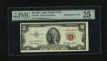 Error Notes:Skewed Reverse Printing, Fr. 1509* $2 1953 Legal Tender Note with Misalignment Error. PMGVery Fine 35.. This is an otherwise unimpressive circulated...