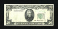 Error Notes:Foldovers, Fr. 2060-E $20 1950A Federal Reserve Note. Extremely Fine.. This isa dramatic foldover with the district Seal, district num...