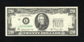 Error Notes:Foldovers, Fr. 2074-L $20 1981A Federal Reserve Note. Extremely Fine-AboutUncirculated.. This foldover occurred prior to the applicati...