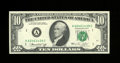 Error Notes:Ink Smears, Fr. 2022-A $10 1974 Federal Reserve Note. Choice CrispUncirculated.. There are several ink smears on the back that looklik...