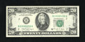 Error Notes:Ink Smears, Fr. 2076-B $20 1988A Federal Reserve Note. Choice CrispUncirculated.. Unusual lateral dark ink smears run west to east ont...