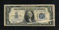 Error Notes:Obstruction Errors, Fr. 1606 $1 1934 Silver Certificate. Very Good.. A diagonal gutteris seen on the face of this $1 Silver. This is a scarce s...