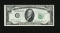 Error Notes:Obstruction Errors, Fr. 2011-B $10 1950A Federal Reserve Note. Choice Crisp Uncirculated.. This is a neat error which affected the right side se...