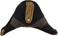 Military & Patriotic:Pre-Civil War, Identified American Staff Officer's Chapeau, Dated 1838....