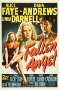 "Movie Posters:Film Noir, Fallen Angel (20th Century Fox, 1945). One Sheet (27"" X 41"").. ..."
