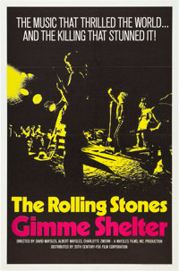 "Gimme Shelter (20th Century Fox, 1970). One Sheet (27"" X 41"")"