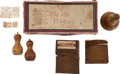 Military & Patriotic:Foreign Wars, Relics: Six Wood Relics Related to Admiral Lord Nelson from the Collection of J. S. Reigart,... (Total: 6 Items)