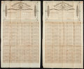 Confederate Notes:Group Lots, Ball 309 $500 Confederate Bonds Two Examples Very Good.. ...(Total: 2 items)