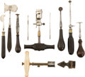 Military & Patriotic:Civil War, Group of C. 1860 Medical Instruments Associated with Skull/Brain Surgery....