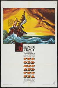 "The Old Man and the Sea (Warner Brothers, 1958). One Sheet (27"" X 41""). Adventure"