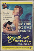 """Movie Posters:Drama, Magnificent Obsession (Universal International, 1954). One Sheet (27"""" X 41""""). Drama.. ..."""