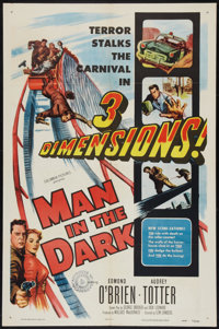 "Man in the Dark (Columbia, 1953). One Sheet (27"" X 41"") 3-D Style. Thriller"