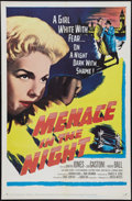 "Movie Posters:Crime, Menace in the Night (United Artists, 1958). One Sheet (27"" X 41"").Crime.. ..."