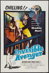 "The Invisible Avenger (Republic, 1958). One Sheet (27"" X 41""). Action"