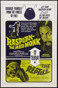 "Movie Posters:Horror, Rasputin: The Mad Monk/The Reptile Combo (20th Century Fox, 1966). One Sheet (27"" X 41""). Horror.. ..."