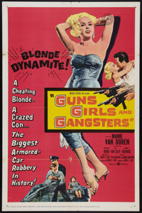 "Guns, Girls and Gangsters (United Artists, 1959). One Sheet (27"" X 41""). Crime"