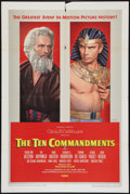 "Movie Posters:Drama, The Ten Commandments (Paramount, 1956). One Sheet (27"" X 41"") Style B. Drama.. ..."