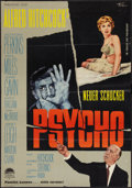 """Movie Posters:Hitchcock, Psycho (Paramount, 1960). German A1 (23"""" X 33""""). Hitchcock.. ..."""