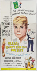 "Movie Posters:Comedy, Please Don't Eat the Daisies (MGM, 1960). Three Sheet (41"" X 81"").Comedy.. ..."