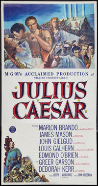 "Julius Caesar (MGM, 1953). Three Sheet (41"" X 81""). Drama"