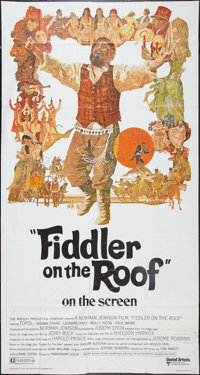 "Fiddler on the Roof (United Artists, 1972). Three Sheet (41"" X 81""). Musical"