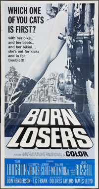 "Born Losers (American International, 1967). Three Sheet (41"" X 81""). Exploitation"