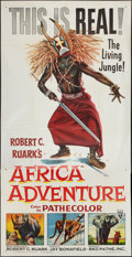 "Movie Posters:Documentary, Africa Adventure (RKO, 1954). Three Sheet (41"" X 81""). Documentary.. ..."