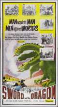 "Movie Posters:Fantasy, Sword and the Dragon (Valiant Films, 1960). Three Sheet (41"" X81""). Fantasy.. ..."