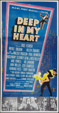 "Movie Posters:Musical, Deep in My Heart (MGM, 1954). Three Sheet (41"" X 81""). Musical....."
