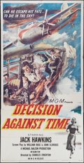 "Movie Posters:Drama, Decision Against Time (MGM, 1957). Three Sheet (41"" X 81""). Drama.. ..."