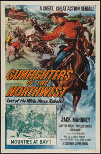 "Gunfighters of the Northwest (Columbia, 1954). One Sheet (27"" X 41"") Chapter 6 -- ""Mounties at Bay!""..."