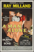 "Movie Posters:Western, A Man Alone (Republic, 1955). One Sheet (27"" X 41""). Western.. ..."