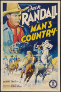 """Movie Posters:Western, Man's Country (Monogram, 1938). One Sheet (27"""" X 41""""). Western....."""