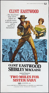"""Two Mules for Sister Sara (Universal, 1970). Three Sheet (41"""" X 81""""). Western"""