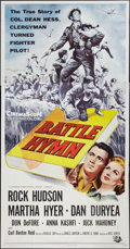 "Movie Posters:War, Battle Hymn (Universal International, 1957). Three Sheet (41"" X81""). War.. ..."