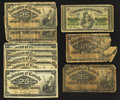 Canadian Currency: , Canadian Shinplasters.. ... (Total: 10 notes)