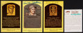 Baseball Collectibles:Others, Hall of Famers Signed Card and Postcards Lot of 4....